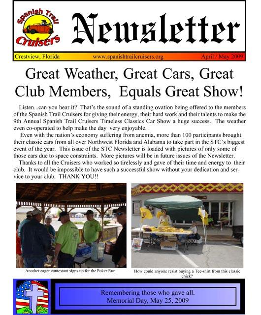 Spanish Trail Cruisers \u003e Newsletter \u003e Current Newsletter - Newsletter Format