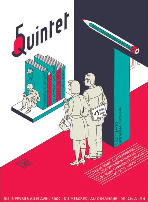 Quintet poster by Joost Swarte