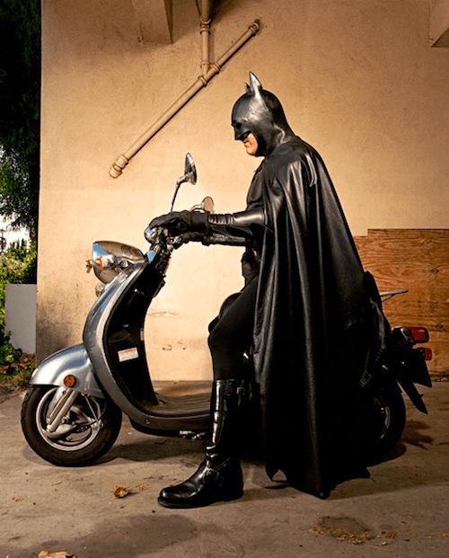 Batman on his Bike