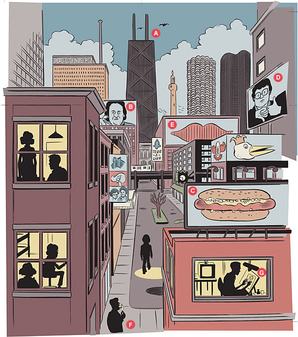 Chicago Magazine 201307-C-Daniel-Clowes-Art
