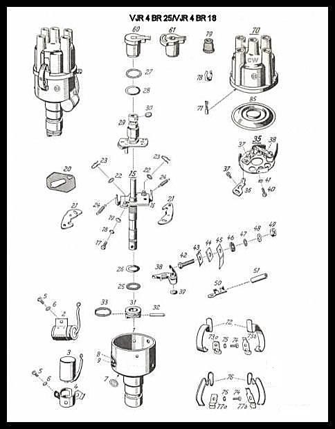 vw distributor diagram