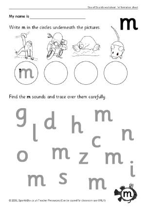 Letter M Phonics Activities and Printable Teaching Resources