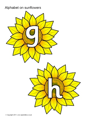 Flowers and Plants Alphabet  Phonics Printable Classroom Display
