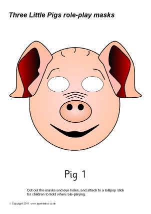 Three Little Pigs Printable Puppets 3 Paper Bag Pig Puppet