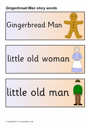 Gingerbread Man Teaching Resources \ Story Sack Printables - gingerbread man template