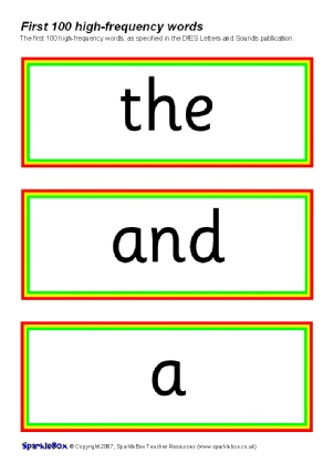 KS1 Literacy High-Frequency Words classroom display resources