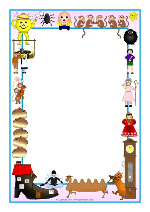 Nursery Rhyme Printable Page Borders - SparkleBox