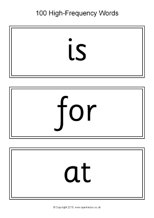 High Frequency Sight Words Printable Flash Cards - SparkleBox