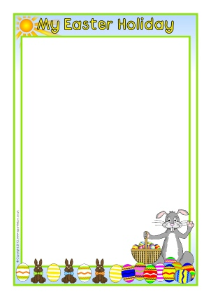 My Easter Holiday A4 Page Borders (SB7794) - SparkleBox