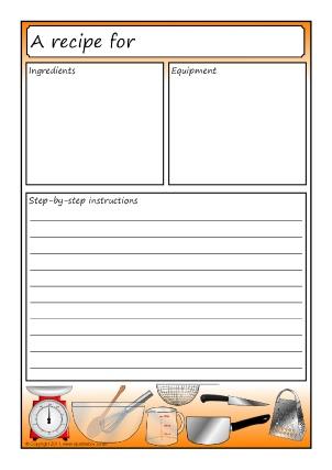 recipe writing templates - Canasbergdorfbib