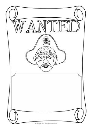 Wanted Poster Writing Frames and Printable Page Borders KS1  KS2