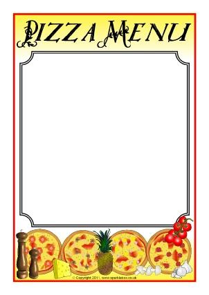 Menu Writing Frames and Printable Page Borders KS1  KS2 - SparkleBox