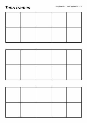Free Printable Tens Frames for Primary School - SparkleBox