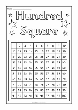 Free Hundred Square/Grid Printables and Teaching Resources - SparkleBox