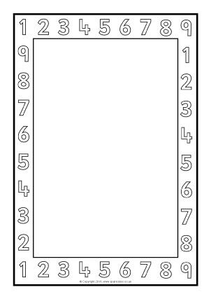 Printable Maths Page Borders - SparkleBox