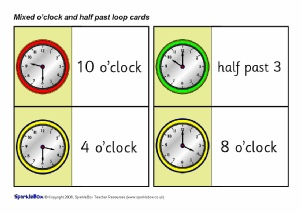 O39clock Times Primary Teaching Resources And Printables