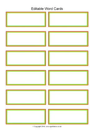 flash card word template - Onwebioinnovate