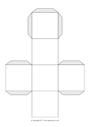 FREE Printable Cut-Out Templates Fans, Dice, Games Spinners