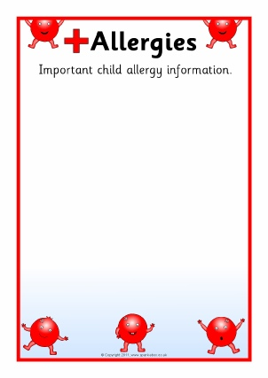 Primary School Pupil Medical Information Board Signs, Labels and