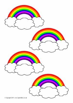 Rainbow-Themed Classroom Printables - SparkleBox