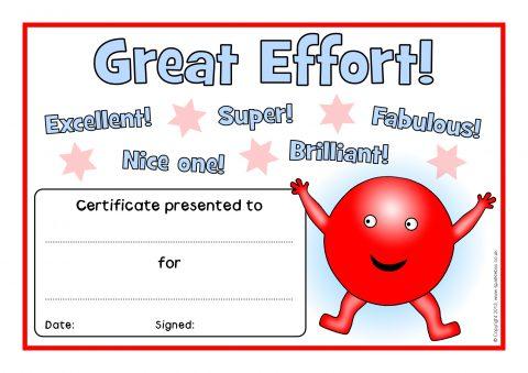 Primary School Award Certificates  Printables - SparkleBox - certificate template for kids