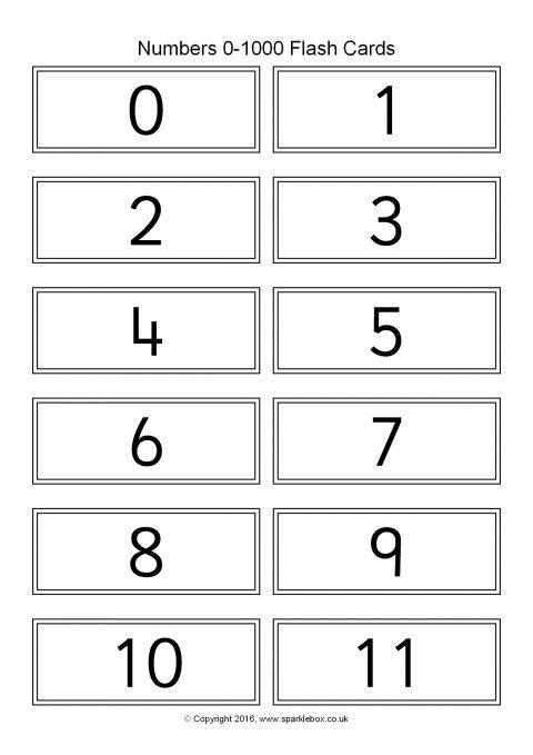 Numbers 0-1000 Flash Cards (SB11486) - SparkleBox