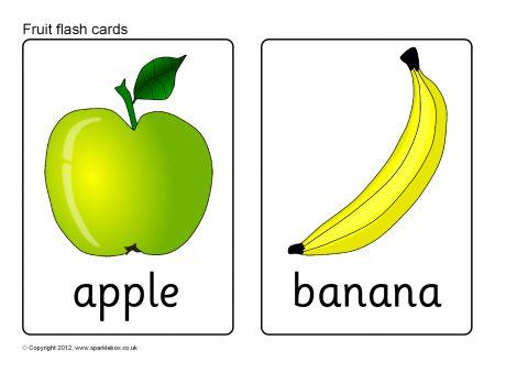 Fruit Flash Cards (SB8201) - SparkleBox