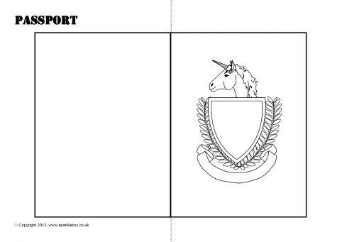 Passport Writing Frames and Printable Page Borders KS1  KS2 - passport template