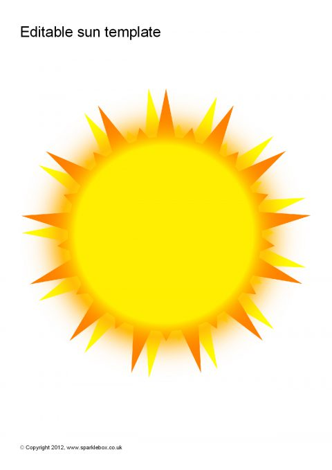 preview summer crafts print your sun template all kids network