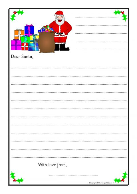 EYFS  KS1 Christmas Literacy Teaching Resources and Printables - borders for christmas letter