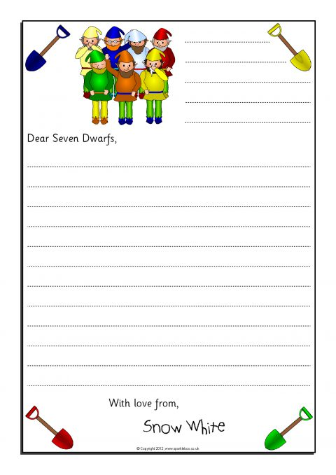 Letter Writing Frames and Printable Page Borders KS1  KS2 - SparkleBox - printable letter paper with lines