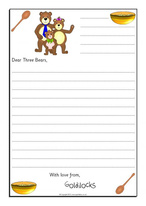 Letter Writing Frames and Printable Page Borders KS1  KS2 - SparkleBox - letter writing template
