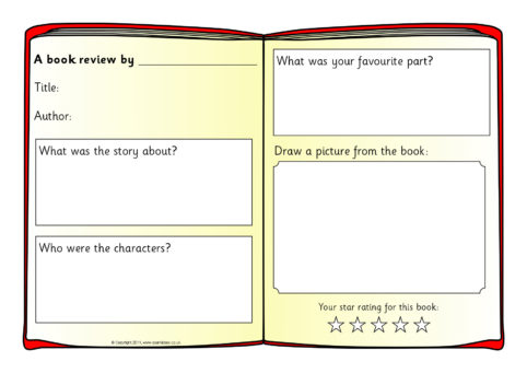Book Review Writing Frame Templates (SB4295) - SparkleBox - book review template