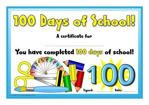 100 Days of School Certificates (SB7827) - SparkleBox - school certificates pdf