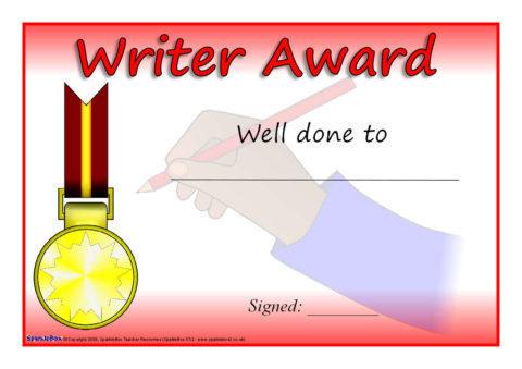 Printable Literacy Award Certificates for Primary KS1  KS2 - SparkleBox