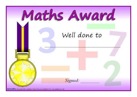 printable math award - Apmayssconstruction