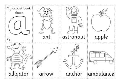Cut Out Mini Alphabet Booklets Sb4783 Sparklebox