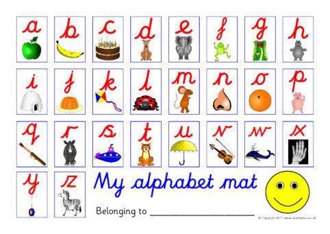 Printable Alphabet Strip samplingforeignluxury