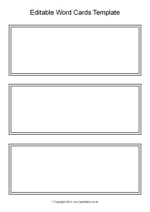 free flash card template