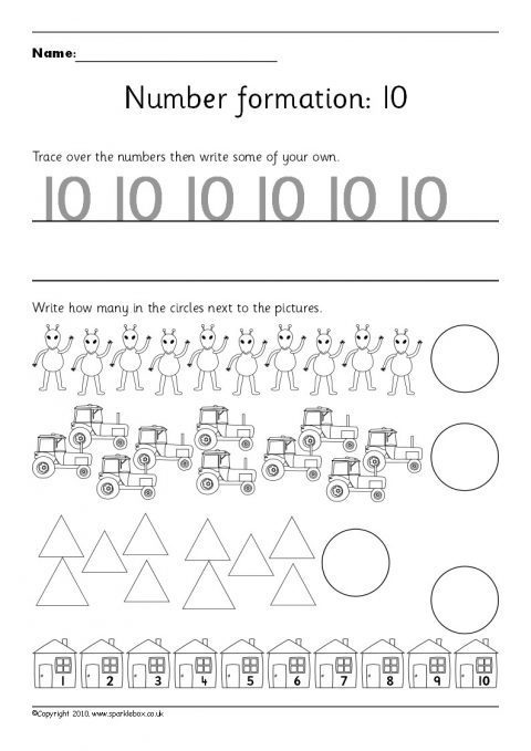 Number Formation Primary Teaching Resources and Printables - SparkleBox - Numbers In Writing