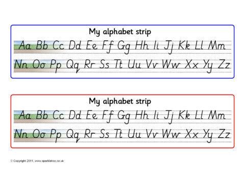 Printable Alphabet Strips wwwpicswe