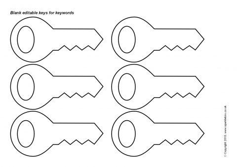 Printable Key Template For Kids  Best Photos of Skeleton Key