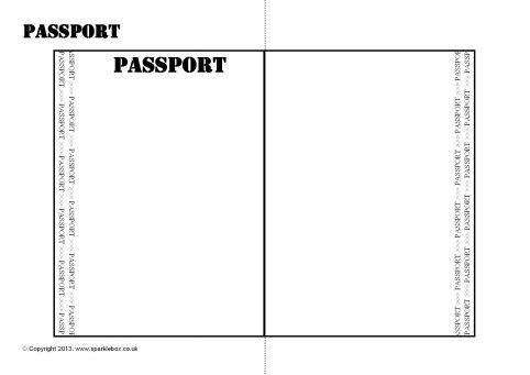 Editable Passport Writing Frame Template (SB9562) - SparkleBox - passport template