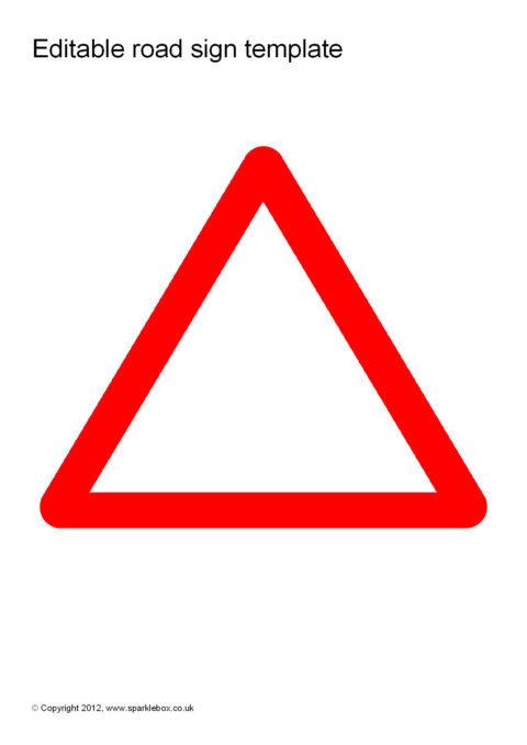 Editable Road Sign Templates (SB8448) - SparkleBox - editable signs