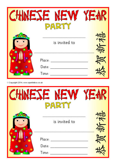invitations for new year party