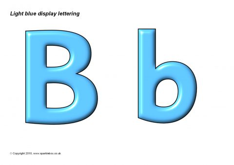 Light Blue Display Lettering