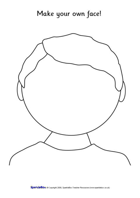 Blank Faces Template (SB1359) - SparkleBox