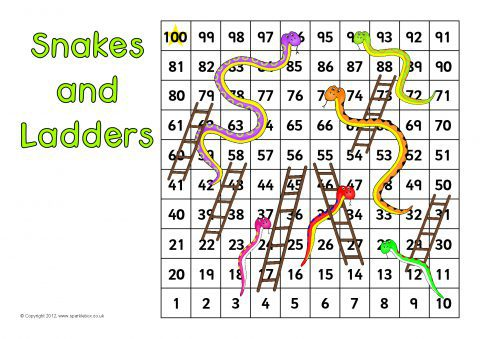 Snakes And Ladders Games Sb7355 Sparklebox