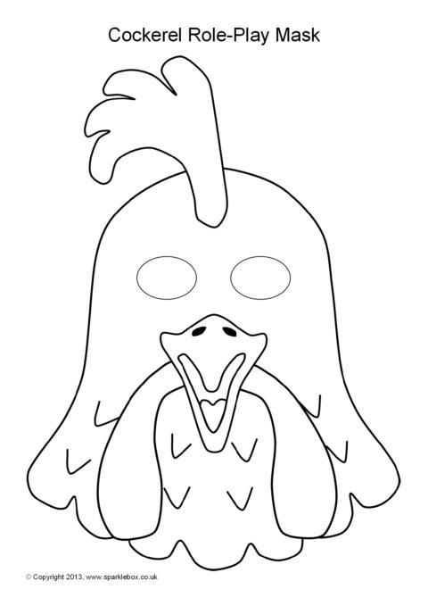 Hen and Cockerel Role-Play Masks (SB9252) - SparkleBox