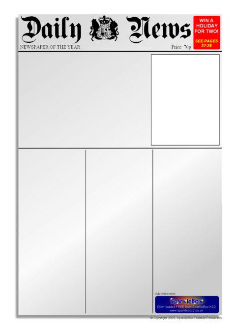 Editable Newspaper Templates (SB6536) - SparkleBox - news paper template